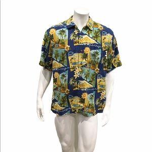 Tommy Bahama Mens Floral Hawaiian Shirt